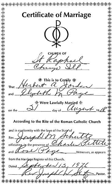 Herbert Arthur Jordan Genealogy Source Records